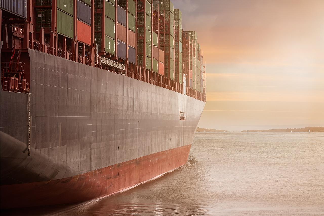 coque d'un bateau container